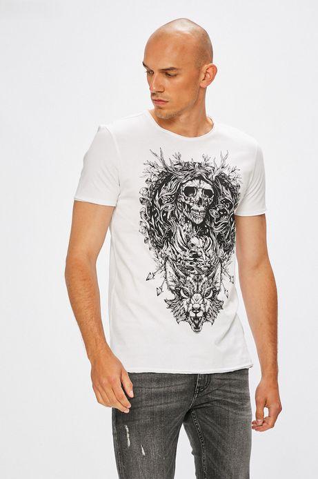 Man's T-shirt męski Underground Mysteries biały