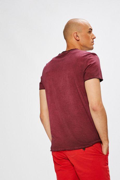 T-shirt męski różowy z nadrukiem