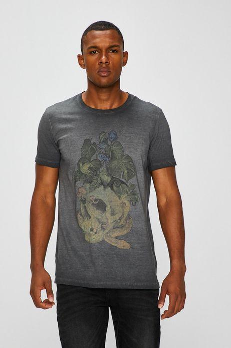 T-shirt męski by Natalia Rak, Street Art szary