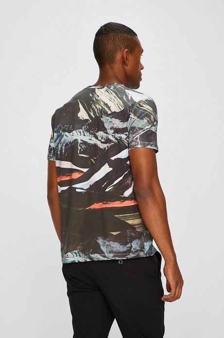 T-shirt męski by Barrakuz Collages, Street Art zielony