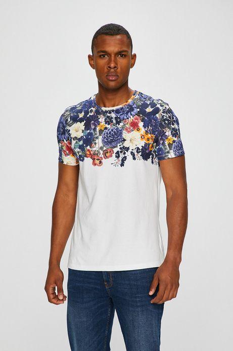 T-shirt męski biały z nadrukiem