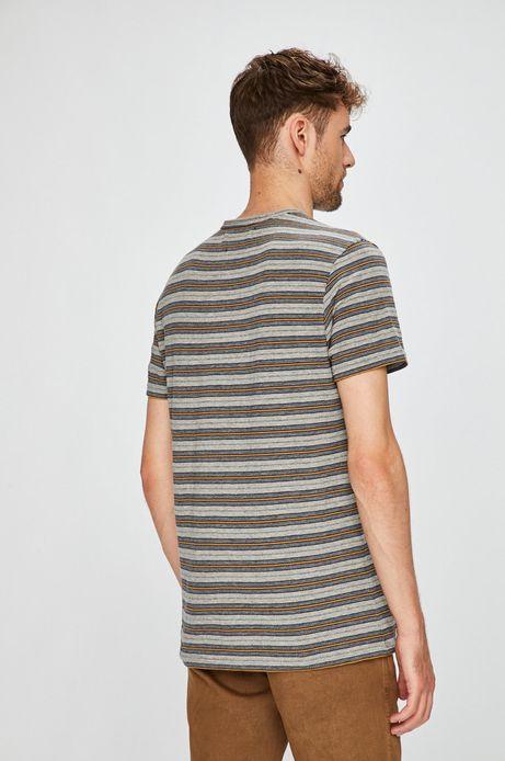 T-shirt męski szary w paski