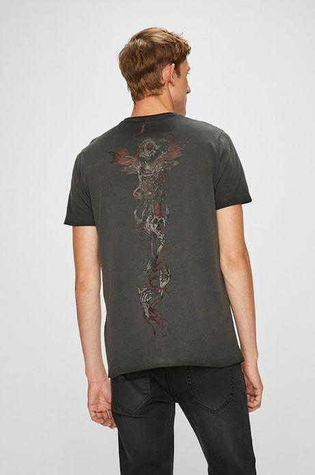 T-shirt męski szary z nadrukiem
