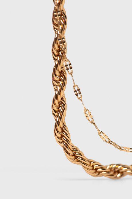 Bransoletka na kostkę damska złota
