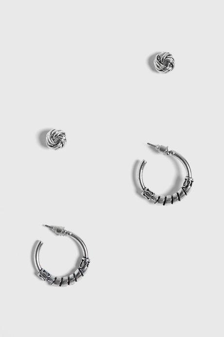 Kolczyki damskie srebrne (2-Pack)