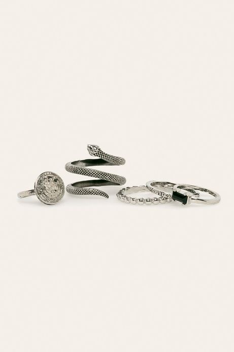 Pierścionki damskie srebrne (5-pack)