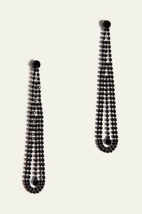 Kolczyki damskie wiszące czarne