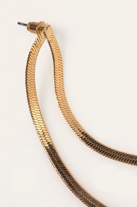Kolczyki damskie wiszące złote