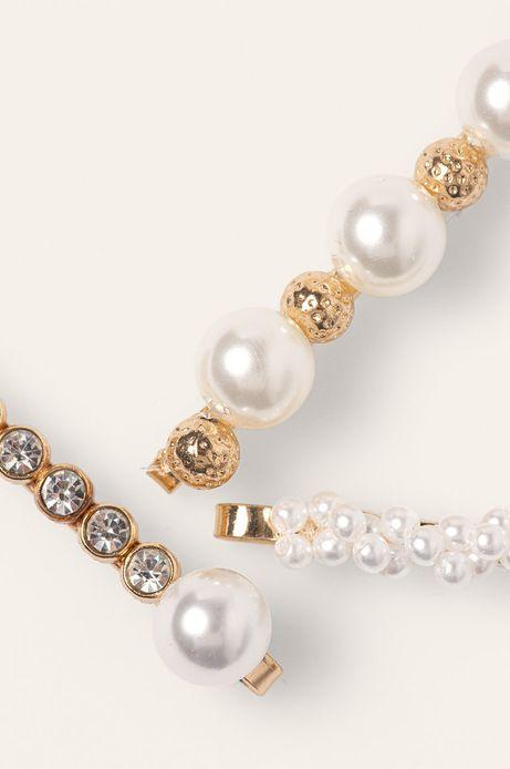 Spinki do włosów z perłami złote