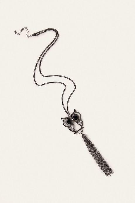 Naszyjnik damski z zawieszką sowa srebrny
