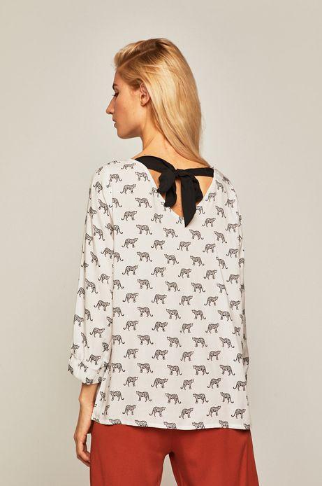 Bluzka damska z wiązaniem na plecach biała