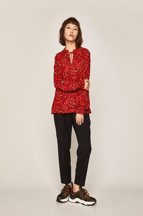 Koszula damska z wiązaniem czerwona
