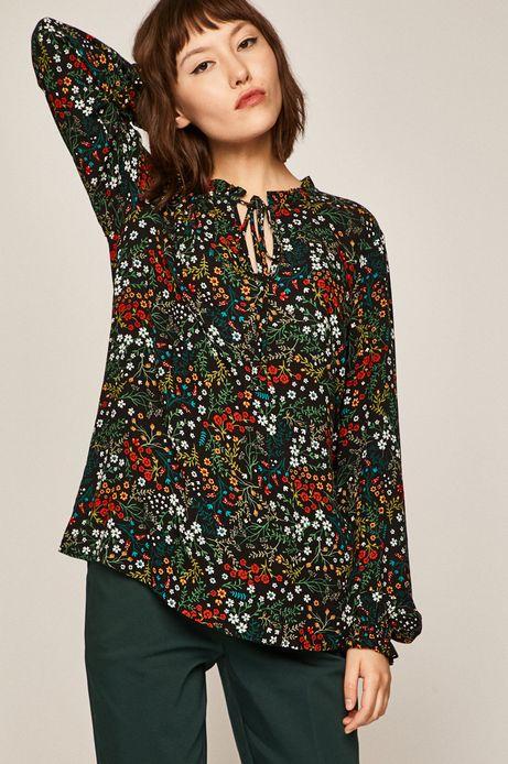 Koszula damska z wiązaniem czarna