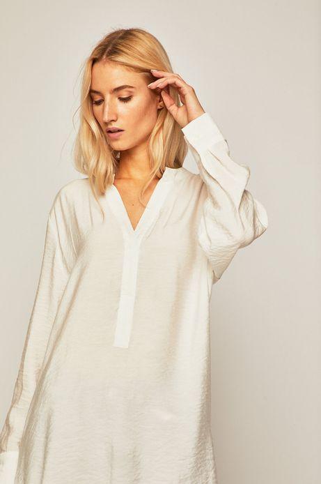 Koszula damska z dłuższym tyłem biała