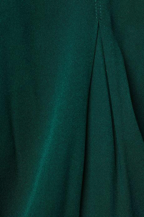 Koszula damska z okrągłym dekoltem zielona