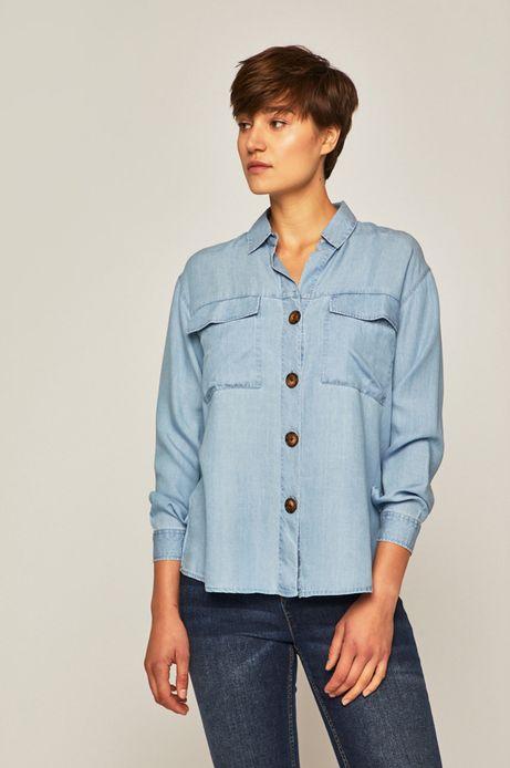 Koszula damska niebieska