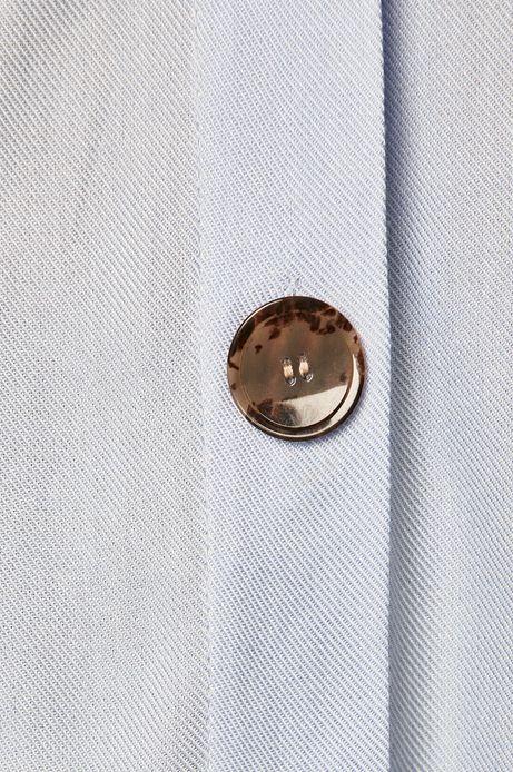 Koszula damska o luźnym kroju niebieska