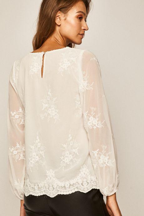 Bluzka damska z haftem biała