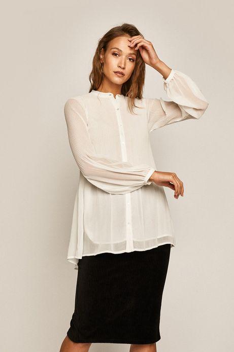 Koszula damska plisowana biała