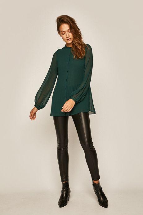 Koszula damska plisowana zielona