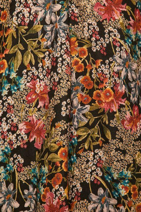 Koszula damska ze spiczastym dekoltem wzorzysta