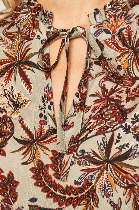 Koszula damska ze stójką wzorzysta