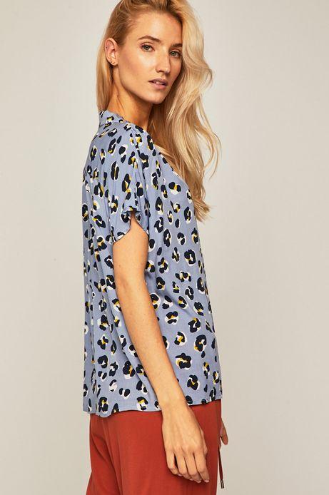 Koszula damska o luźnym fasonie niebieska