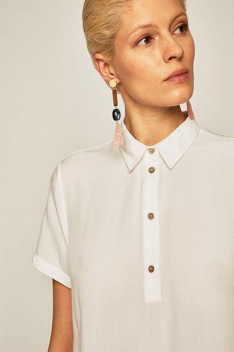 Bluzka damska z guzikami biała