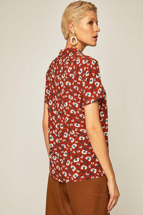 Bluzka damska z guzikami w kwiaty