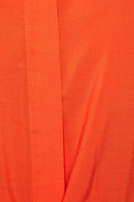 Bluzka damska z wiązaniem pomarańczowa