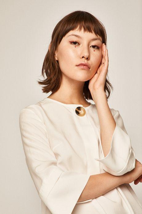 Bluzka damska z zapięciem na guzik biała