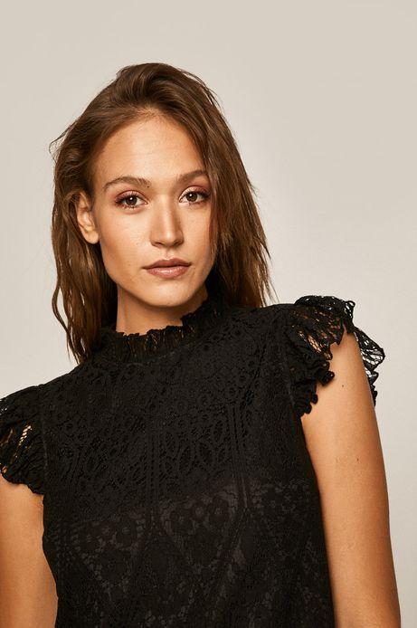 Bluzka damska koronkowa czarna
