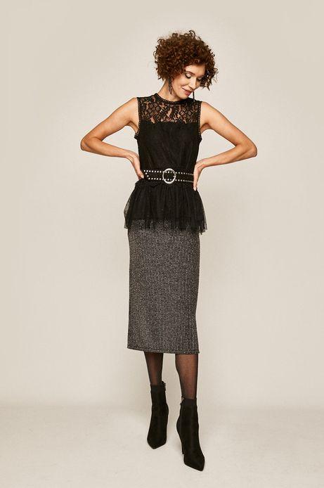Bluzka damska z baskinką czarna