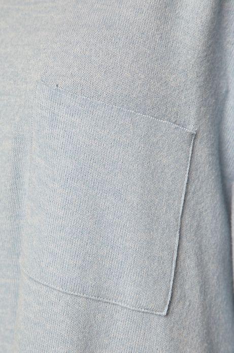 Bluza damska z kieszonką niebieska