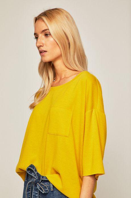 Bluza damska z kieszonką żółta