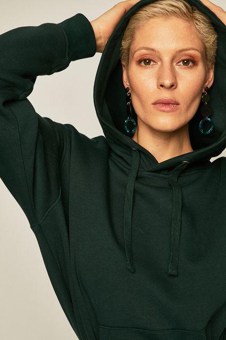 Bluza damska z kieszeniami zielona