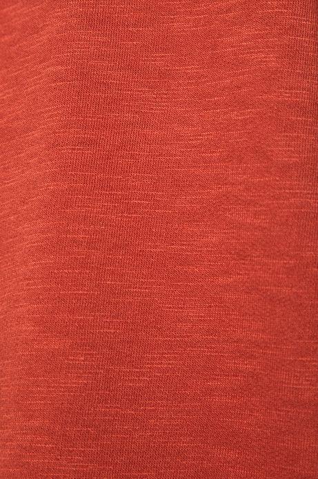 Bluza damska z obniżoną linią ramion pomarańczowa