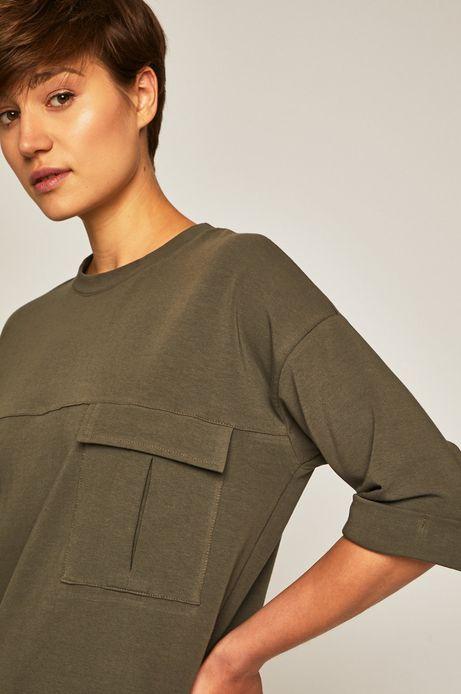 Bluza damska z kieszonką zielona