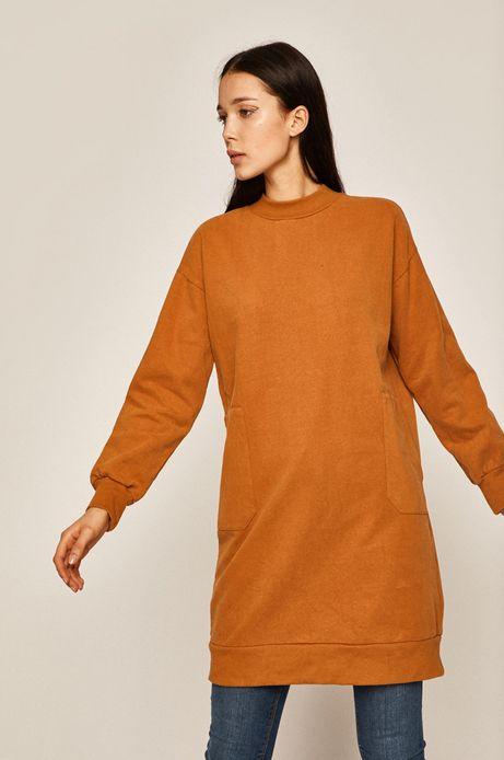 Bluza damska z kieszeniami pomarańczowa