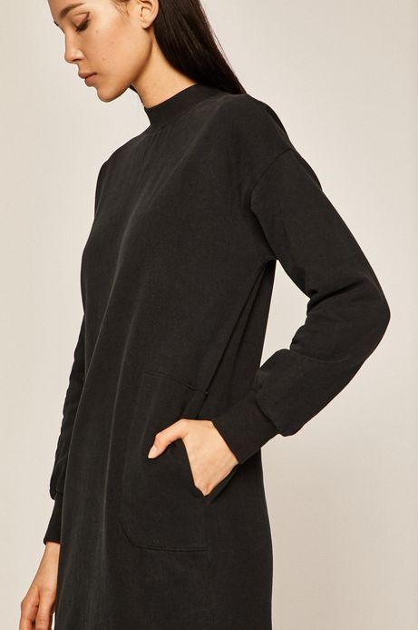 Bluza damska z kieszeniami czarna