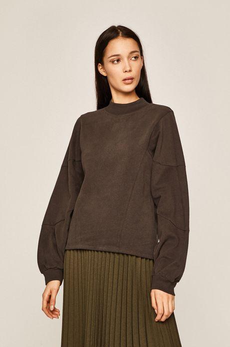 Bluza damska z okrągłym dekoltem szara