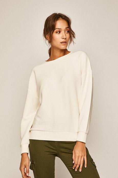 Bluza damska z obniżoną linią ramion kremowa