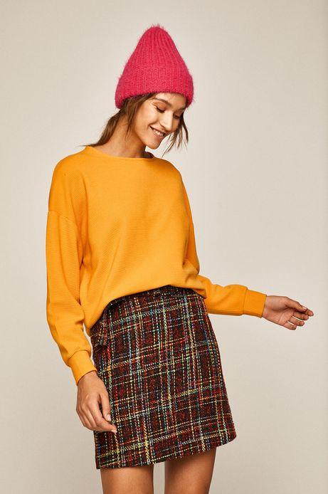 Bluza damska z obniżoną linią ramion żółta