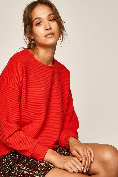 Bluza damska z obniżoną linią ramion czerwona