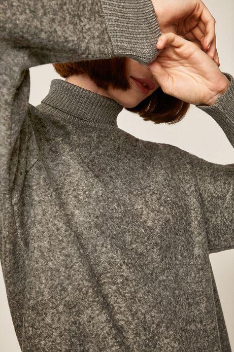 Bluza damska z golfem szara