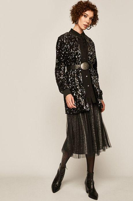 Bluza damska z cekinami czarna