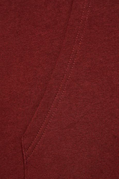 Bluza męska z kapturem bordowa