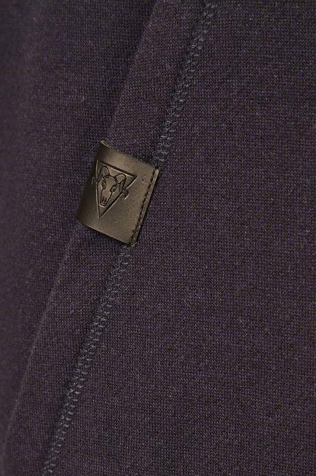 Bluza męska z wywijanym golfem granatowa