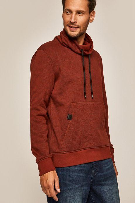 Bluza męska z wywijanym golfem czerwona