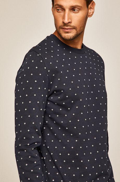 Bluza męska z okrągłym dekoltem granatowa